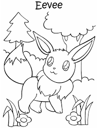 Kleurplaat Pokemon Evy