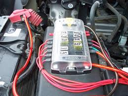 connecting multiple devices to your battery toyota fj cruiser forum do a search for a blue sea fuse block they look like this