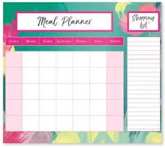 Meal Prep Chart Details About Weekly Magnetic Fridge Meal Diet Planner Shopping List Chart Board Food Prep