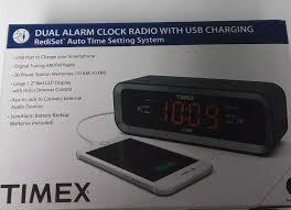 timex am fm alarm clock radio