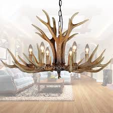rustic 6 light resin fixture painting antler chandeliers intended for modern residence antler chandelier designs
