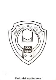 Free Paw Patrol Badge Of Rubble Spanner Coloring Page