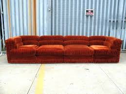 R Rust Sofa Velvet Sectional Chaise  Colored