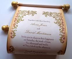 Rustic Wedding Invitation Wedding Invitations Scroll Invitation