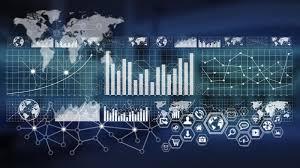Digital Charts And Screen Interface Stock Illustration