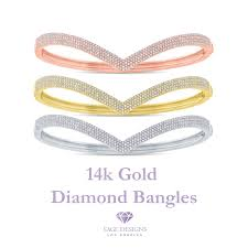 Sage Designs Los Angeles Empowered Elegance 14k Gold Diamond Bangles For Her