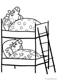 Top 35 free printable peppa pig coloring pages online. Peppa Pig Coloring Pages Peppa And George Sleeping Coloring4free Coloring4free Com