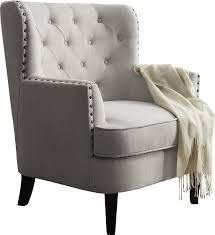 chair grey. carter tufted arm chair grey y