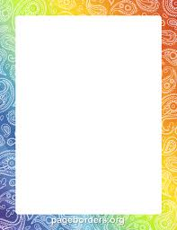 Rainbow Page Border Pin By Muse Printables On Page Borders And Border Clip Art Page