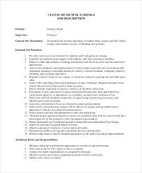 security officer duties and responsibilities sample security guard job description 8 examples in pdf word