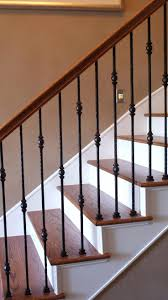 Wrought Iron Stair Railing Cost Rod Staircase Spindles For Stairs Canada. Wrought  Iron Spindles For Stairs Lowes Hand Railing Designs Rod ...