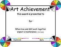 Achievement Awards Certificates Templates Free Printable Art Achievement Certificate Download Them