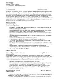 army to civilian resumes military civilian cv driver