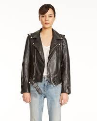 bocelix leather jacket by maje the iconic australia black ma005aa53yri