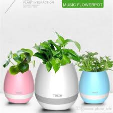 wireless office speakers. best tokqi bluetoth smart touch flowerpot music vase wireless mini subwoofer speaker with led light flowerpots home office mp3 player flower pot powered speakers o