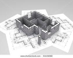 3d Plan On Top Architecture Blueprints Stock Illustration 53419288