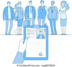 Recruitment Cv Staff Recruitment Human Resources Selection Employment Job Cv People Candidates Interview Hr Choice Employer Linear Vector Concept