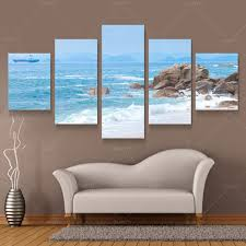 five panel wall art beach canvas modern abstract oil paintings seascape beach blue wave amazing living  on 3 panel wall art beach with wall art inspiring images about wall art beach tropical wall art
