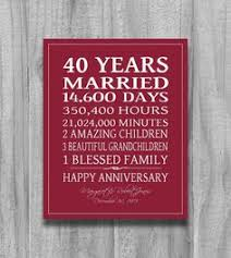 great gift ideas for 40th wedding anniversary