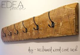 Reclaimed Wood Wall Coat Rack