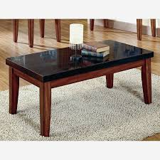 black plastic coffee table leather top dark clear