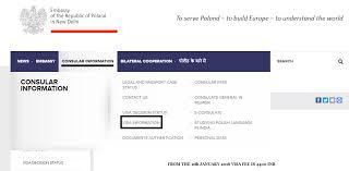 exle of visa information tab