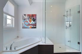 bathroom best corner tub shower bathtub install surround intended simple 4 corner tub shower