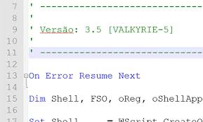 On Error Resume Next Vbscript Template Design