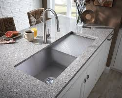 Small Stainless Steel Top Mount Farmhouse Kitchen Sink On Granite Farmhouse Stainless Steel Kitchen Sink