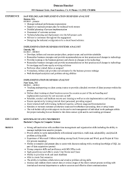 Sample Resumes For Business Analyst Implementation Business Analyst Resume Samples Velvet Jobs
