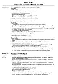 Implementation Business Analyst Resume Samples | Velvet Jobs