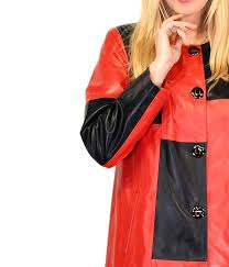 3 womens leather coat multicolour