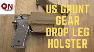 Beretta M9a3 Holster With Light Us Grunt Gears Drop Leg Holster For The M9a3
