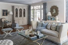 light blue accents living room transitional with neutral