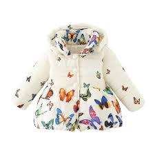 toddler baby girls winter jacket coat children autumn outerwear baby girl cotton erfly print jacket children clothes rain jacket for boys kid winter