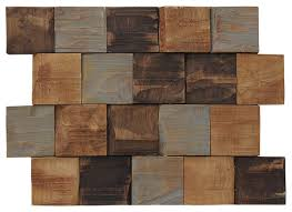 12 99 x9 45 kayu contours teak wall tiles set of 6 contemporary wall and floor tile by ecotessa
