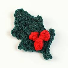 This means spike 1 and is worked on as follows: Crocheted Holly Leaf With Berries Petals To Picots