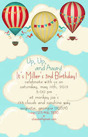 Balloon Birthday Invitations Hot Air Balloon Birthday Party Invitations Set Of 20 Invites On