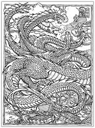 Chinese Dragon Adult Coloring Pages Realistic Inside For Adults
