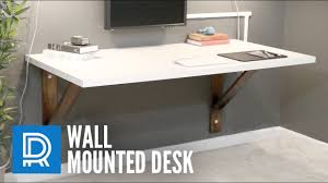 Make Your Own Computer Desk Build A Wall Mounted Desk Youtube