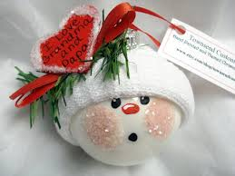 Grandma Grandpa Gift Christmas Ornament Red Heart Townsend Custom Gifts - F