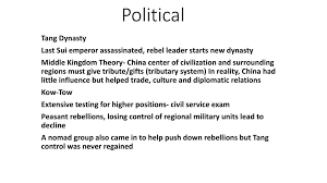 Spice Chart Ch 14 East Asia Sui Tang Song Dynasties Ppt
