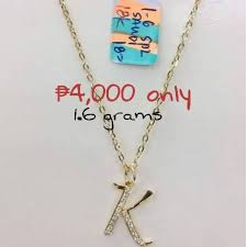 18k saudi gold necklace with initial pendant k women s fashion jewelry on carou