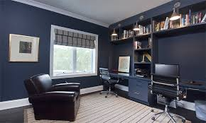 home office dark blue gallery wall. Chicago Residence. \u003e Home Office Dark Blue Gallery Wall