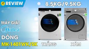 Máy giặt Midea Inverter 8.5 Kg MFK85-1401SK - giá tốt, có trả góp