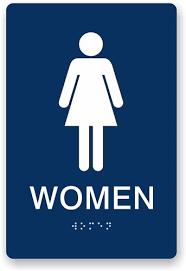 womens bathroom sign. Beautiful Bathroom Alternative Views With Womens Bathroom Sign ADA Braille Signs