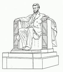 lincoln memorial building clipart. abraham lincoln a realistic drawing of memorial coloring page building clipart