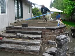 raised deck and patio