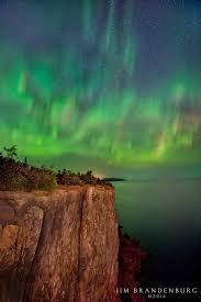 Northern Lights Superior Wi Aurora Borealis Lake Superior Minnesota Usa Minnesota