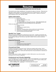 Resume Examples For Jobs Examples Of Resumes